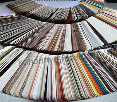 Раскладка с цветами пластиковых фасадов