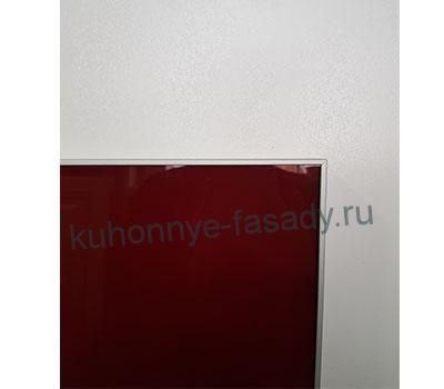 Алюминиевая серебряная рамка с тёмно-красным стеклом