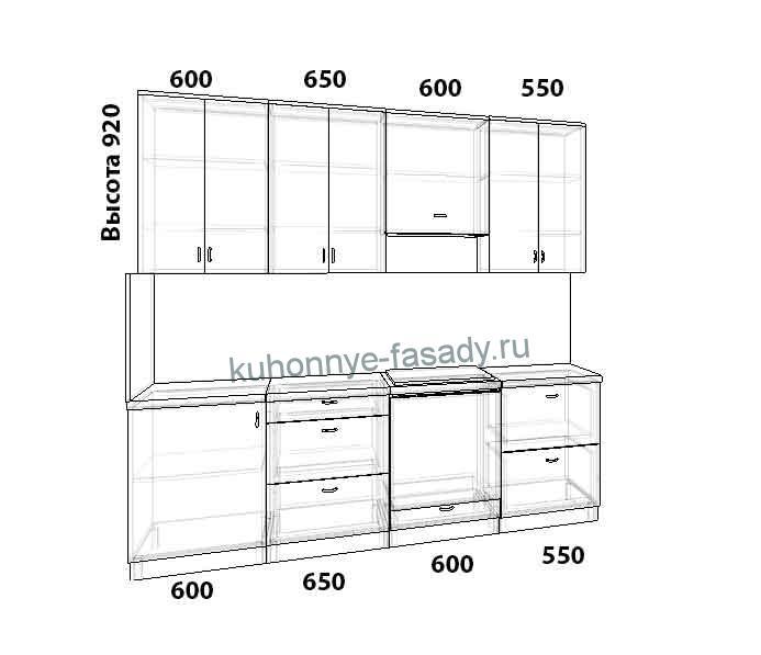Кухня на заказ прямая размер 2400 мм.