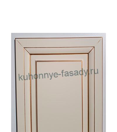 Мебельные фасады Сицилия софт крем патина золото
